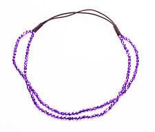 Diva disco violet métallique à facettes perles élastique double alice band (zx46)