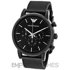 *NEW* MENS EMPORIO ARMANI LUIGI BLACK MATT MESH WATCH - AR1968 - RRP £299.00