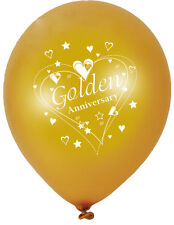Golden Wedding  50th Wedding Anniversary BALLOONS FREE P&P Party Decorations