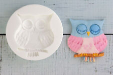 Silicone Mould, Wise Owl, Bird, Food Safe, Fondant, Resin M096