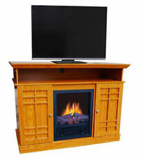 Electric Fireplace TV Stand Media Entertainment Center Heater Flame Wood NEW