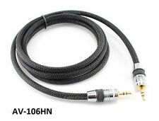 "6ft Premium Pro 3.5mm (1/8"") Stereo Audio Male/Male Net Sleeve Cable, AV-106HN"