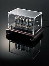 YS13-3 Nixie Era VFD Clock w/Wooden Base &Acrylic Enclosure