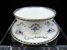 "VINTAGE ROYAL ALBERT #6526 FLORAL & GEOMETRIC GOLD TRIM 1 3/4"" BOWL AND SAUCER"