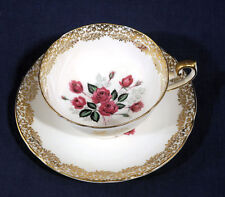 Rare Shelley Fine English Bone China Tea Cup and + Saucer Set Red Roses 0659/B
