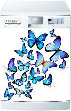 Aufkleber geschirrspülmaschine dekor küche haushaltsgeräte schmetterling blau