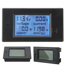 DC 20A LCD Meter Voltage Current KWh Watt Power Monitor for Car Battery Pannel