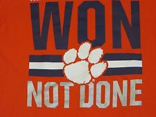 "NCAA Clemson Tigers ""Won Not Done"" Nike T-Shirt XL/X-Large NWT"
