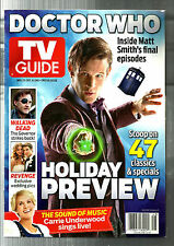 TV GUIDE-11/13-DOCTOR WHO-MATT SMITH-BONNIE & CLYDE-MOB CITY-HOLIDAY PREVIEW-NML