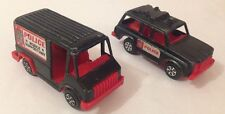 Vintage TOOTSIETOY Police Jeep & Mobile Support Unit Truck Old Toy TT Tootsie