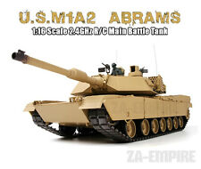 1:16 US M1A2 Abrams RC Tank Airsoft With Smoke & Sound Remote Control 2.4GHz New