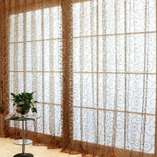 Stylish Floral Tulle Voile Door Window Curtains Drape Panel Sheer Scarf Valances