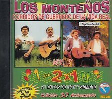 LOS MONTENOS CORRIDOS DE GUERRERO DE LA VIDA REAL CD NEW NUEVO SEALED