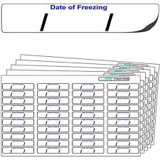 "640 Freezer Labels ""Date of freezing"" FREEZER GRADE Self Adhesive Stickers."