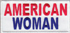 American Woman USA Ladies Patriotic Embroidered Motorcycle Biker Patch PAT-2094