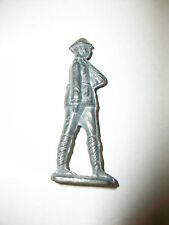 Vintage Lead Metal Toy Soldier Army Man Standing Guard w/ Rifle on shoulder