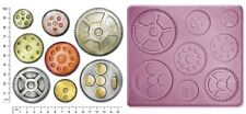 Steam Punk Cogs & Gears #3 Craft Sugarcraft fimo sculpey STAMPO IN SILICONE MOLD