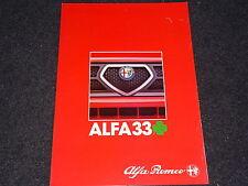 ALFA ROMEO 33 Quadrifoglio Verde Prospekt von 1984