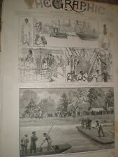 Angling tournament Orleans House Twickenham fly casting 1886 old print