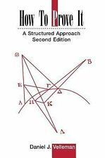 How To Prove It A Structured Approach Second Edition VELLEMAN