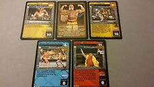 WWE Raw Deal HOLLYWOOD HULK HOGAN IMMORTAL ONE THROWBACK 5 card Starter Set