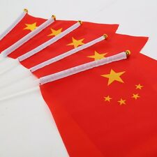 China Hand Table Flag chinese HELD STICK Small FLAGS Festivals Country CCP 10pcs
