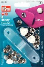 Prym Druckknöpfe 6 Stück Jersey 12 mm weiß mit Werkzeug 390117