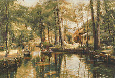 WALL LANDSCAPE TAPESTRY Quiet Place EUROPEAN DECOR - LAKE FOREST PICTURE