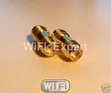 1 x SMA female To SMA female connect 2 SMA MALES RF Connector Adapter USA