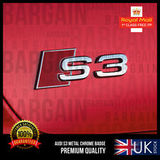 S3 RED METAL TRUNK BOOT REAR HATCH CHROME EMBLEM BADGE AUDI A3 TDI TFSI S LINE