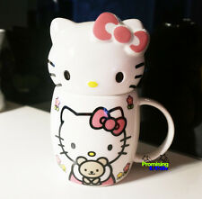 New Cute Hello Kitty & Teddy Bear Ceramic Cup Tea Milk Coffee Mug 400ML