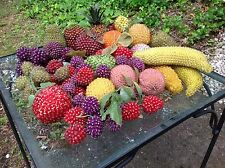 Vintage COLLECTION of 70 ASSORTED Faux BEADED FRUIT Retro MCM see itemized list