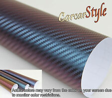3D Carbon Fibre Vinyl 100mm(3.9in)x 1520mm(59.8in) Wrap Film Sticker Bubble Free