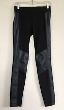 Cabi Ricky Legging #578 Ponte Knit Faux Leather Black Size XS Stretch