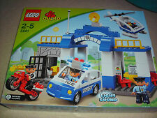 LEGO DUPLO 5681 POLICE STATION+CAR+HELICOPTER**LIGHTS AND SOUNDS** (BRAND NEW)