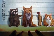 Usual Suspects by Lucia Heffernan Print, Poster 11x16.5