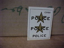 JO-HAN,,,ORIGINAL DECALS,,,,FROM THE ARCHIVES,,,,POLICE