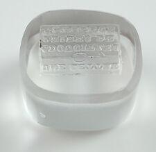 Antique Intaglio Seal With Motto: Une Lettre Adoucit Les Peines De L'absence.