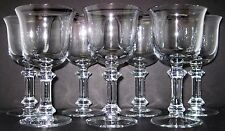 "6 NEW Dansk Lead Crystal Mesa 10 Ounce Wine Glass 6 3/4"" Wafer Stem"