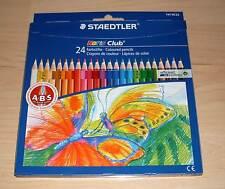 24 Buntstifte Staedtler Sechskant farbig Farben malen bunte Bleistifte Neu