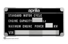 Aprilia Scooter SR 50/125 Mojito 50cc data plate quality vin-tage new