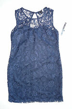 As U Wish Womens Black Lace Sleeveless Party Dress Juniors Girls Navy Blue Sz 11