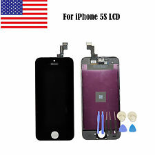 US For iPhone 5S Replacement LCD Display Screen+Touch Digitizer Assembly Black