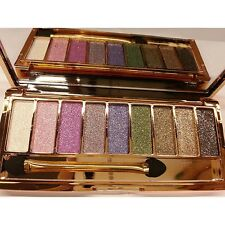Pro 9 Colors Makeup Glitter Eyeshadow Palette with Brush Waterproof Club Party6
