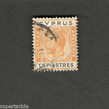 1921 Cyprus  1½ piastres  SCOTT #95 KING GEORGE V Θ used stamp