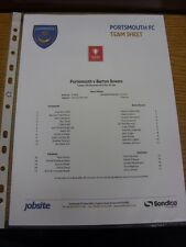 19/11/2013 Portsmouth YOUTH V Barton ROVER Youth [FA Youth Cup] (singolo foglio).