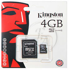Brand New 4GB Micro SD SDHC Kingston Memory Card With SD Adapter TF HC Microsd