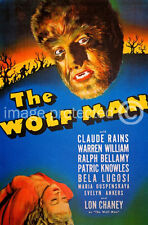 The Wolf Man Bela Lugosi Vintage Horror Movie Poster 18x24