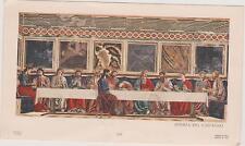 IMAGE PIEUSE HOLY CARD SANTINI/TABLEAU LA CENE/Andrea del Castagno/Dordoni MiLAN