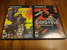 Gungrave 1 and 2 LOT (Sony PlayStation 2, 2002) Complete CIB Rare Fast Shipping